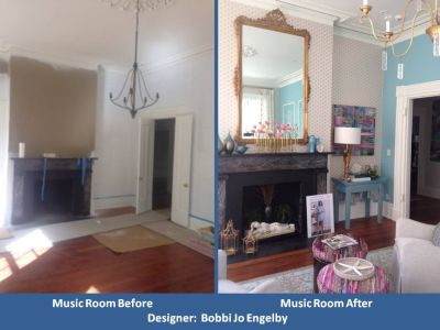 CSOL Lowcountry Live Music Room Before and After